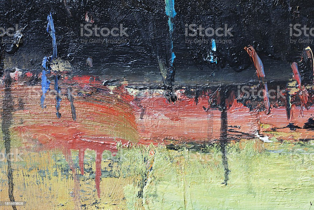 Abstract painted red black and green   art backgrounds. royalty-free stock photo