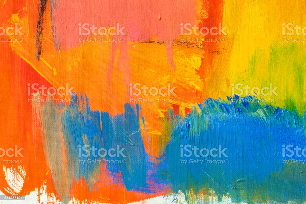 Abstract painted red green and blue art backgrounds. stock photo