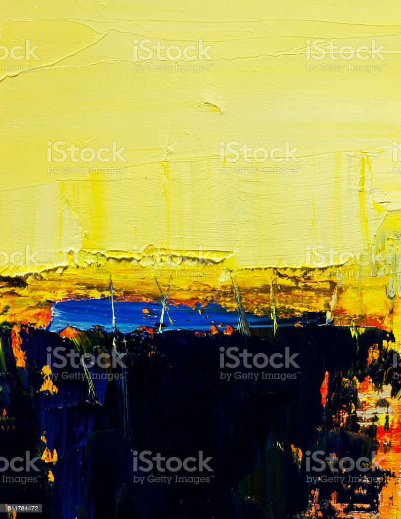 Abstract painted yellow and black  art backgrounds. stock photo