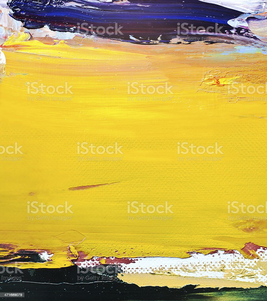 Abstract painted yellow and blue art backgrounds. royalty-free stock photo