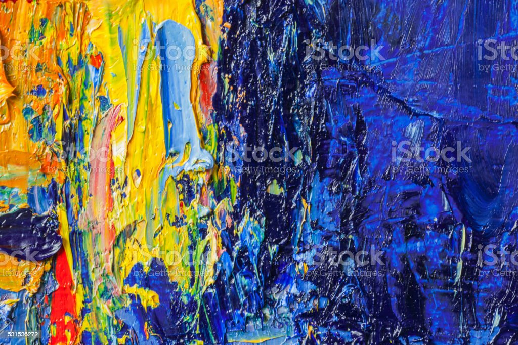 Abstract painted yellow and blue art backgrounds. vector art illustration