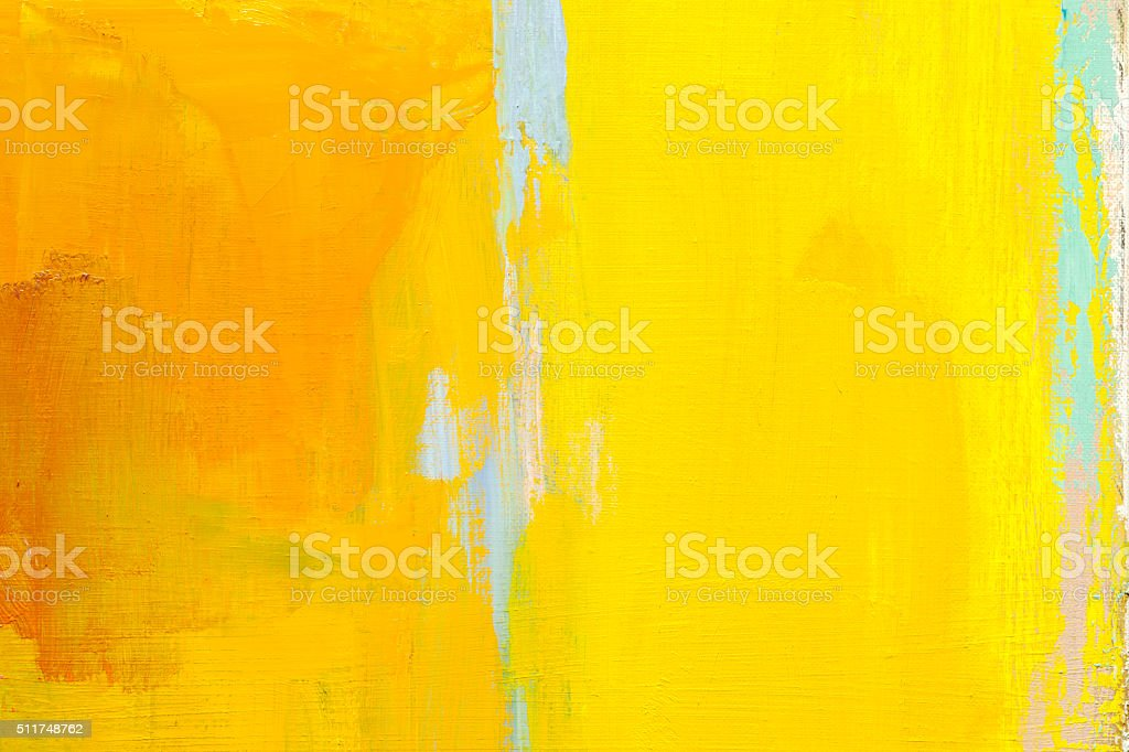 Abstract painted yellow and green  art backgrounds. stock photo