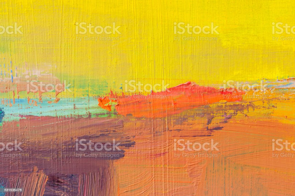Abstract painted yellow and orange art backgrounds. stock photo