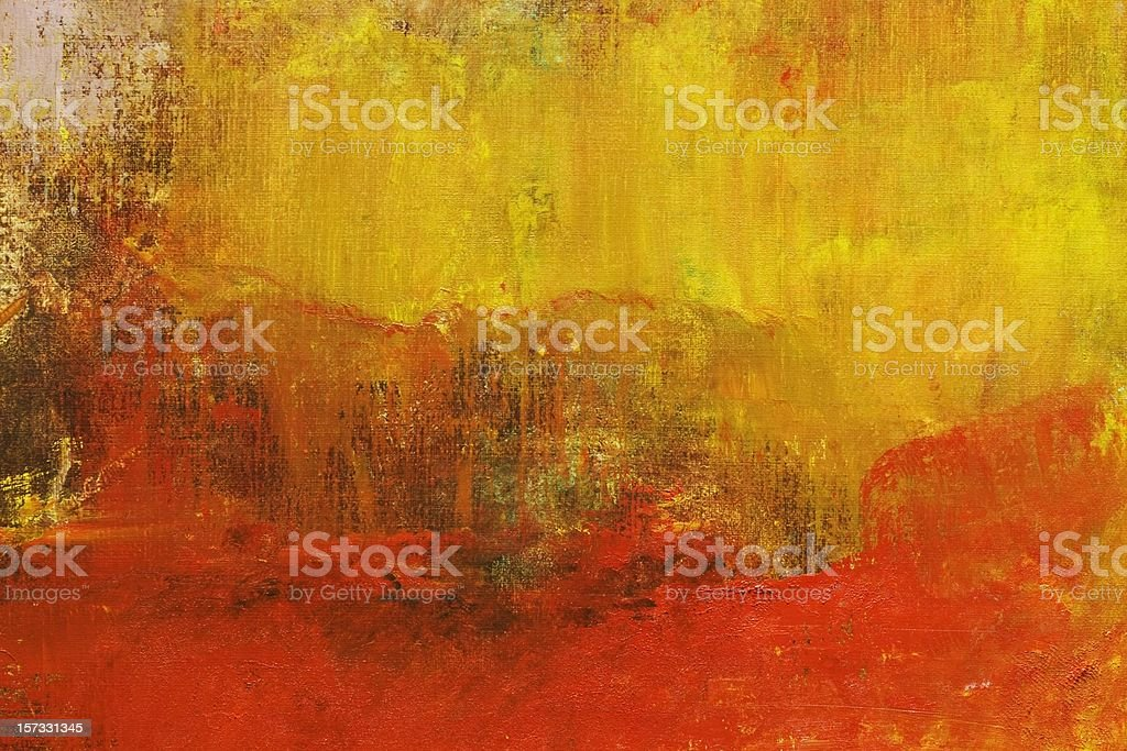 Abstract painted yellow and red art backgrounds. vector art illustration