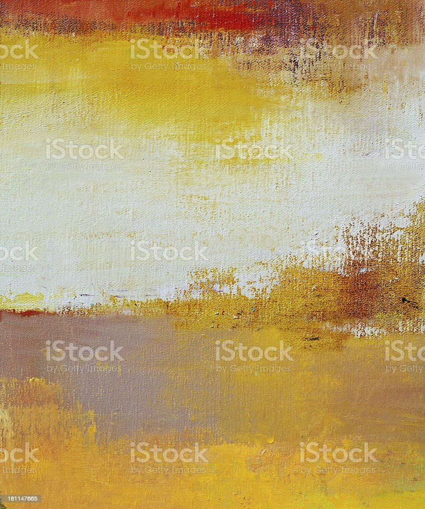 Abstract painted yellow  and red art backgrounds. royalty-free stock photo
