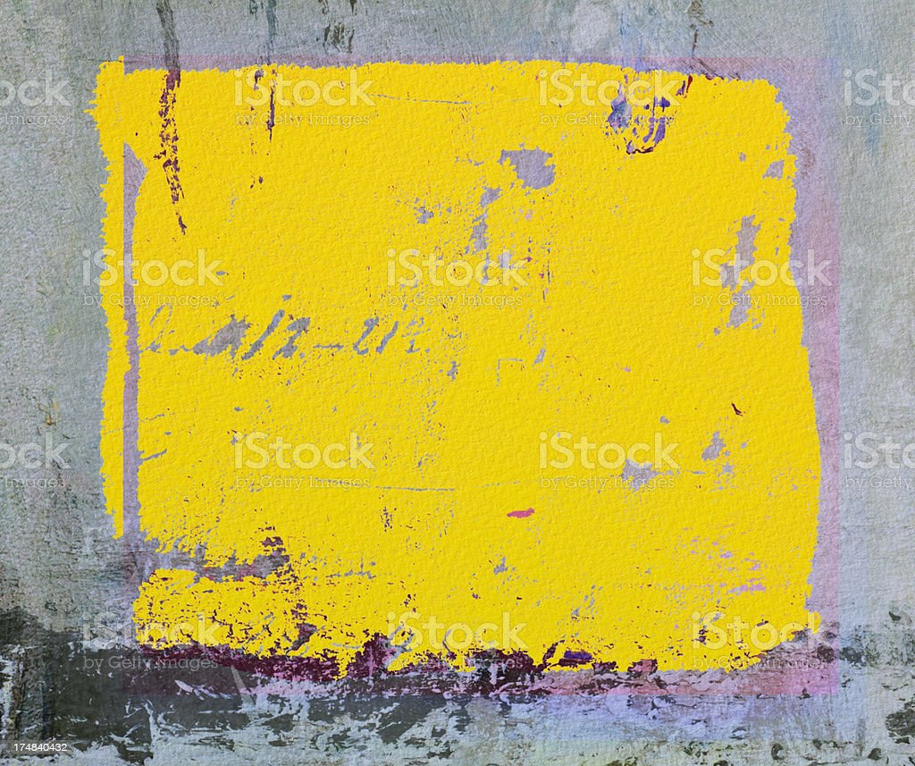 Abstract painted  yellow  art backgrounds. royalty-free stock photo