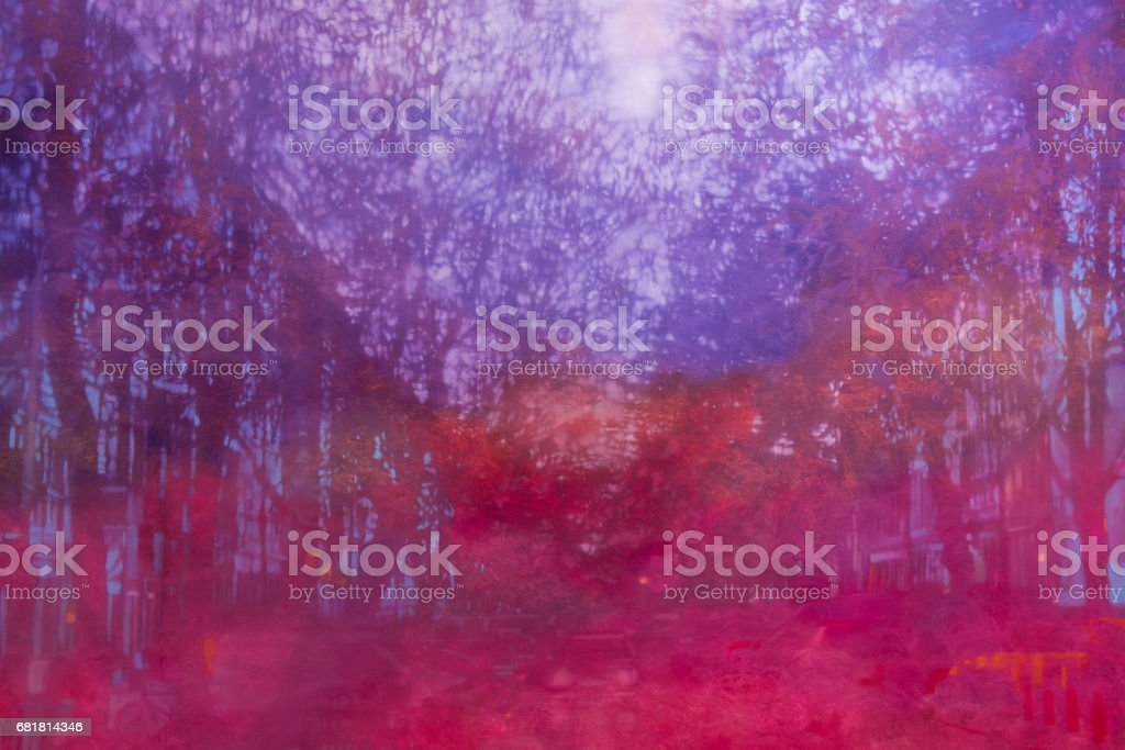 Abstract Painting Art: Strokes with Different Color Patterns like Purple, Violet and Red vector art illustration