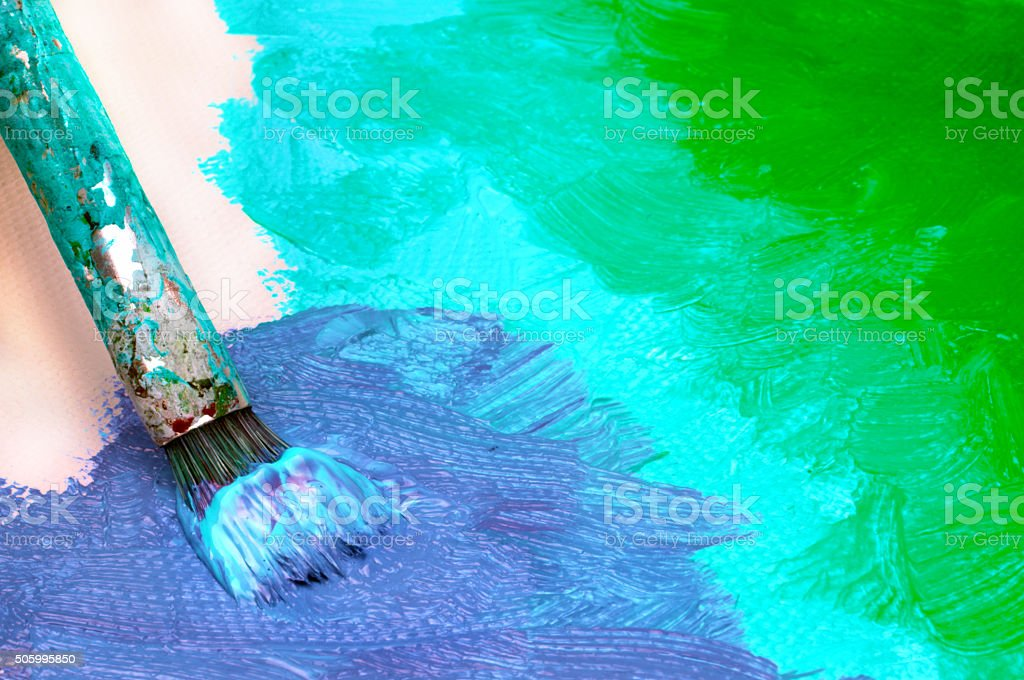 Abstract painting on canvas stock photo