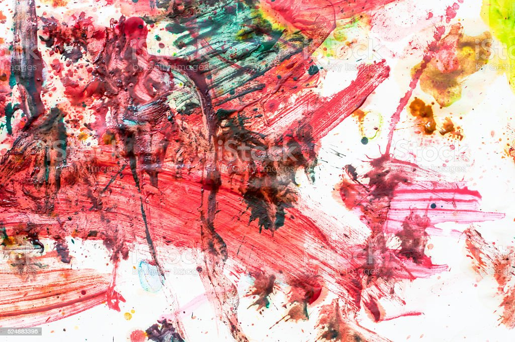 abstract painting on paper. art of child stock photo