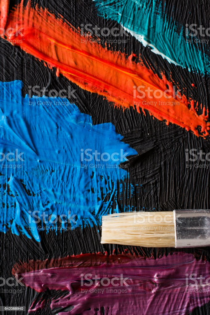 Abstract painting poster. Background for a painter exhibition stock photo