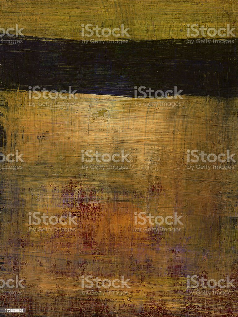 Abstract Painting with Brown Stripe royalty-free stock photo