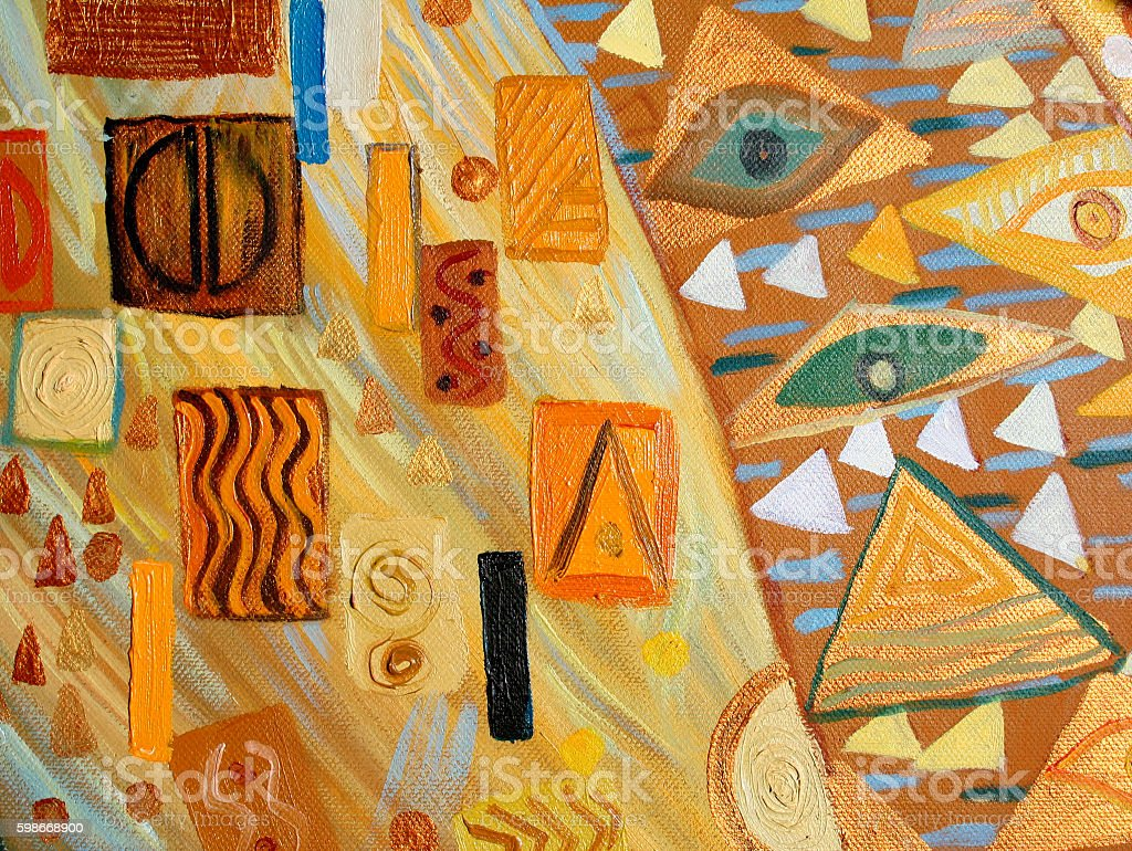 Abstract Painting,oil on Canvas stock photo