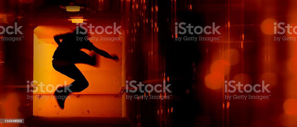 Abstract Panoramic stock photo