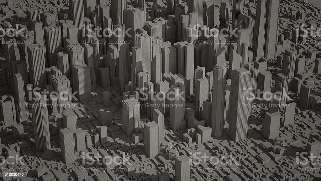Abstract Paper City (3D Concept Illustration) stock photo