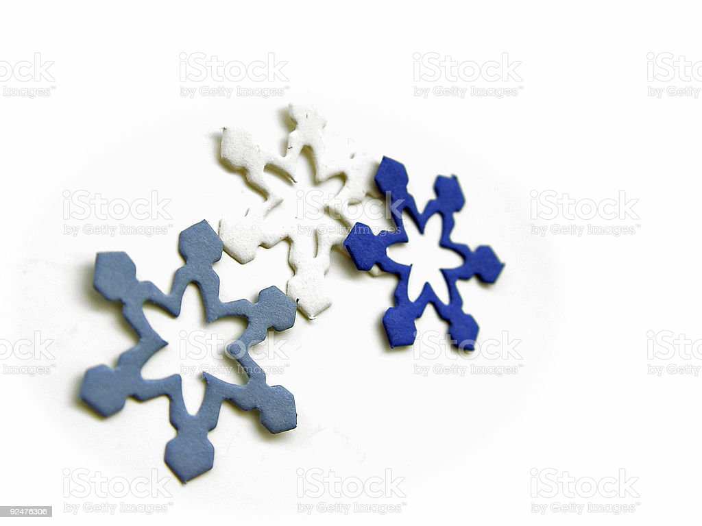 Abstract Paper Snowflakes royalty-free stock photo