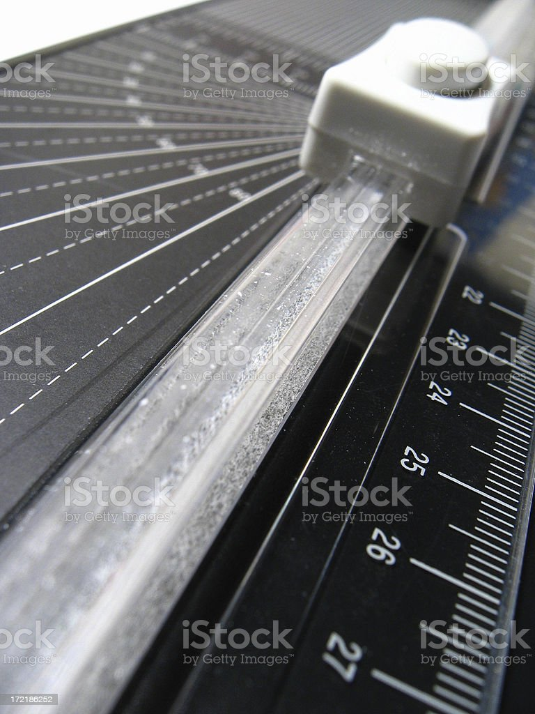 Abstract paper trimmer royalty-free stock photo
