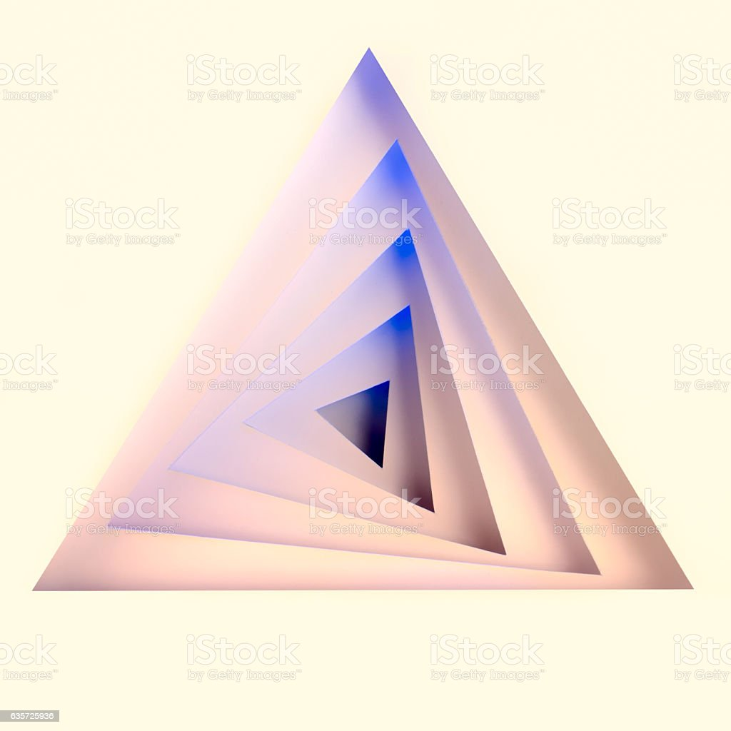 Abstract papercraft spiral stock photo