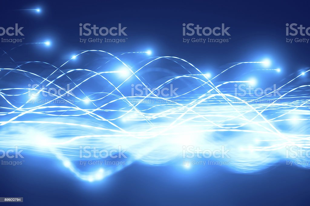 Abstract particles flow royalty-free stock photo