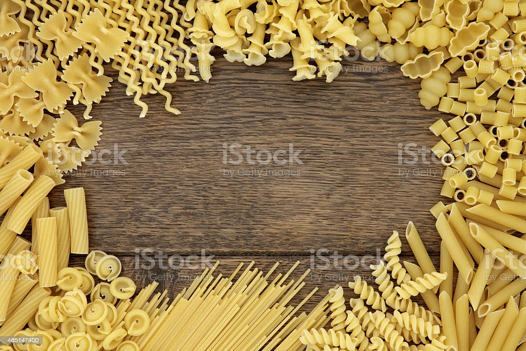Abstract Pasta Border stock photo