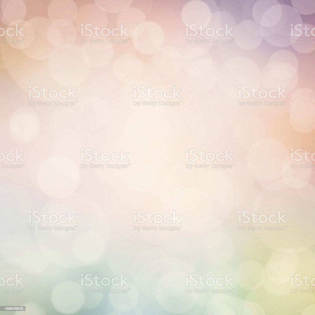 Abstract pastel defocused lights background. Twinkled bright stock photo