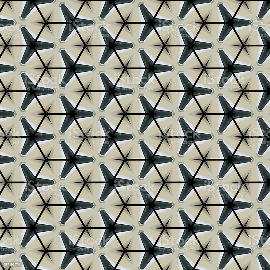 Abstract pattern design background from geometric shape stock photo