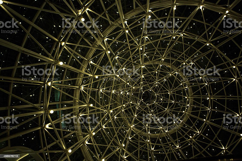 Abstract pattern metal construction stock photo