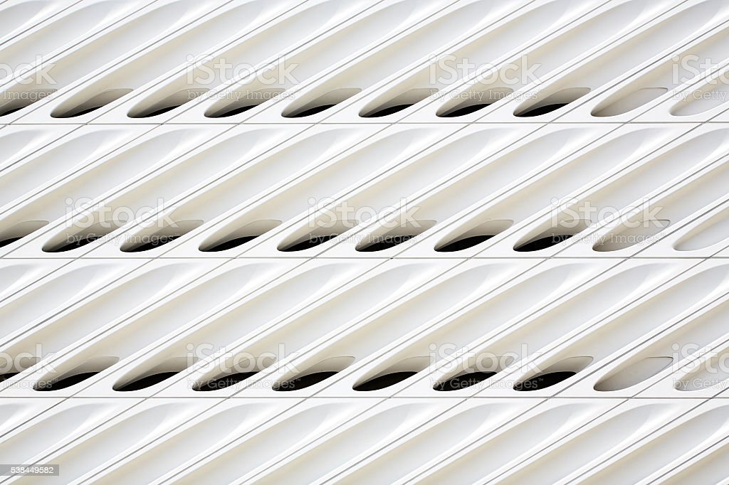 Abstract Pattern of Modern Building Wall stock photo