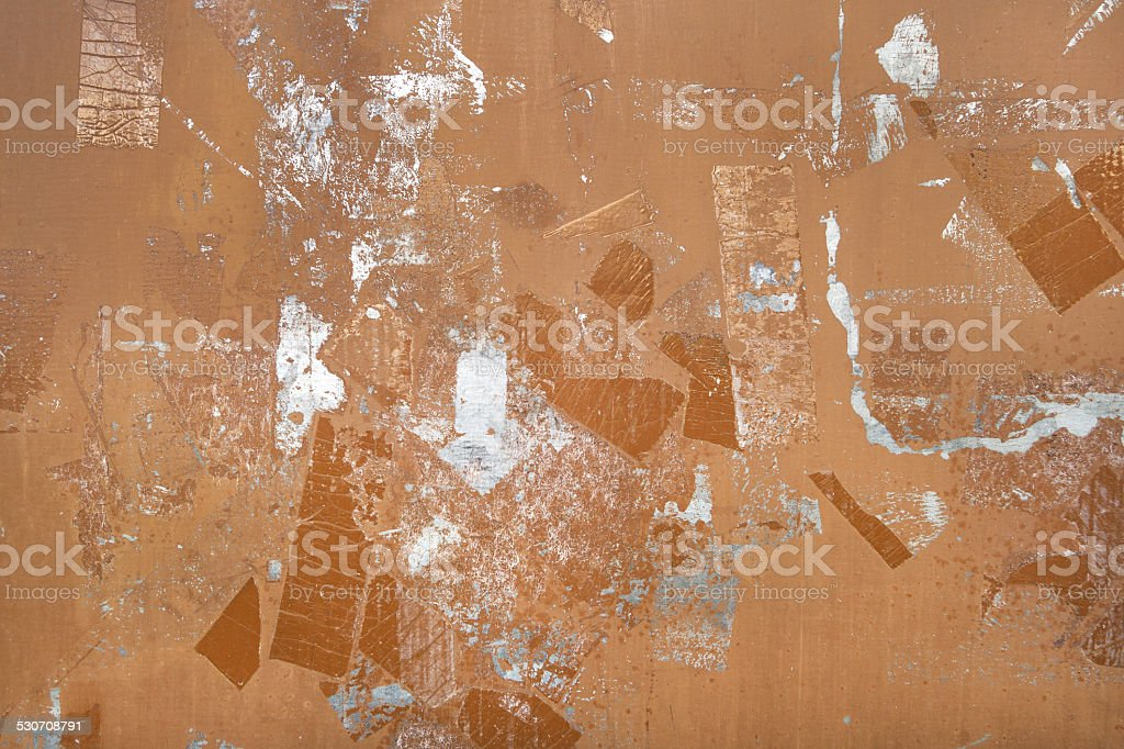 Abstract pattern on brown metal royalty-free stock photo