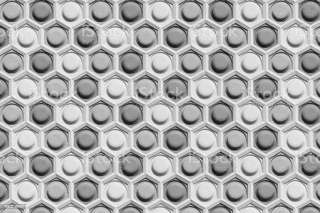 Abstract pattern on wall. Concrete texture background. Texture decorated on public modern building. stock photo