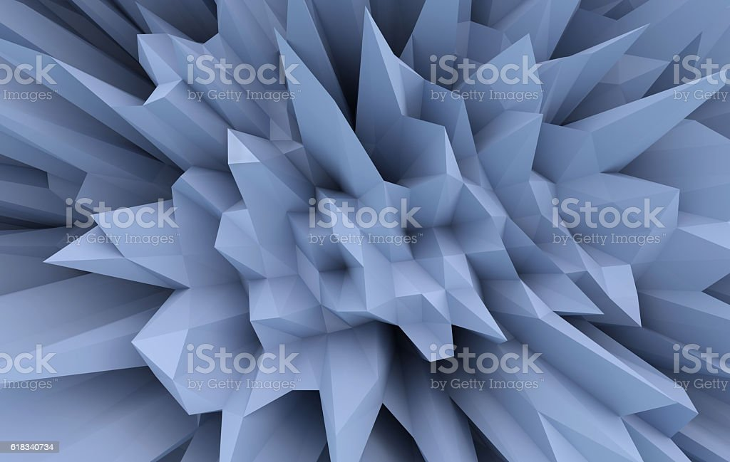 3D abstract pattern stock photo