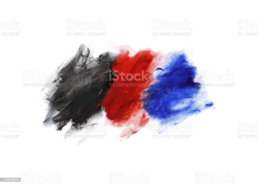 abstract pattern, red blue and black paint royalty-free stock photo