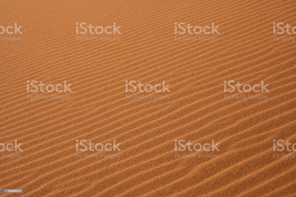 Abstract patterns in sand stock photo