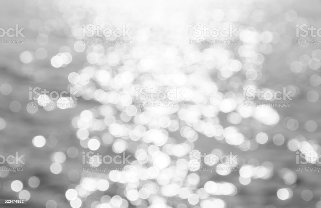 abstract photo of light and glitter bokeh lights. stock photo