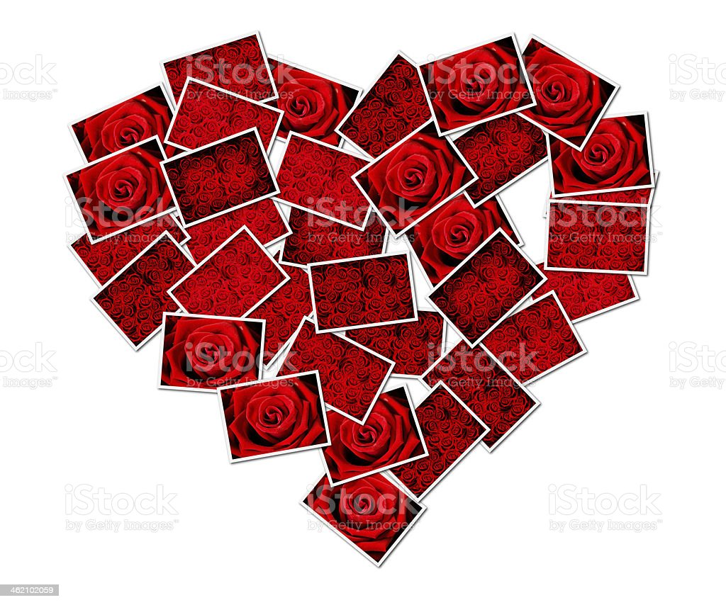 Abstract photo of love concept putting together a heart shape royalty-free stock photo
