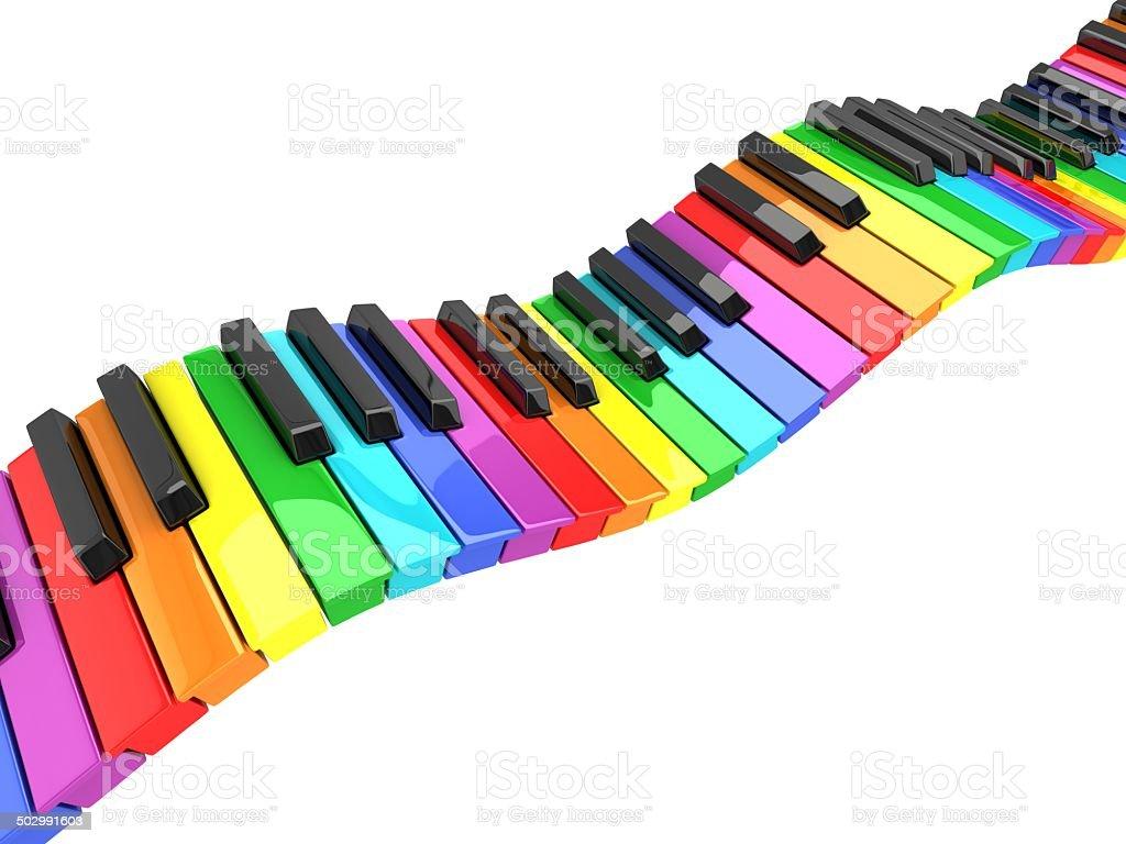 abstract piano keyboard wave stock photo