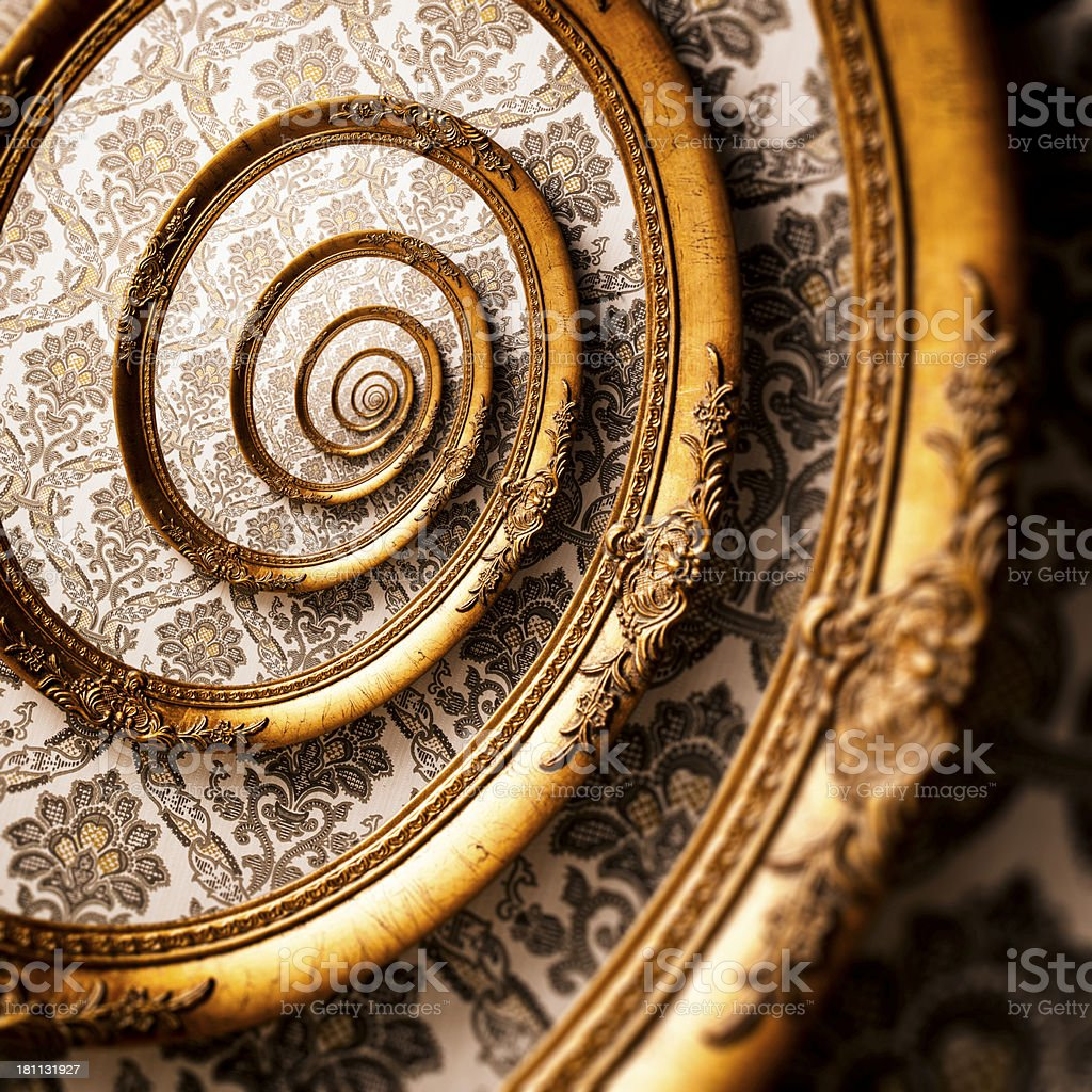 Abstract picture frame spiral royalty-free stock photo