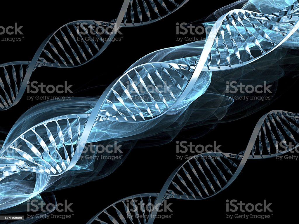 DNA abstract royalty-free stock photo