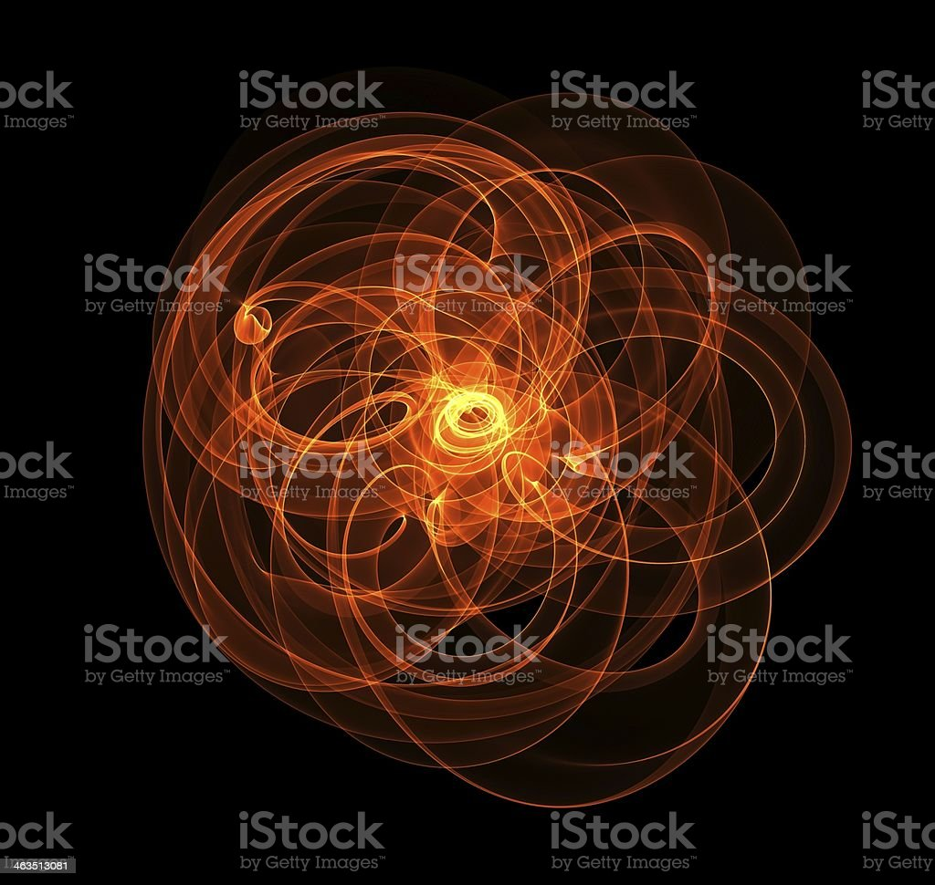 Abstract picture of orange fire on black background stock photo