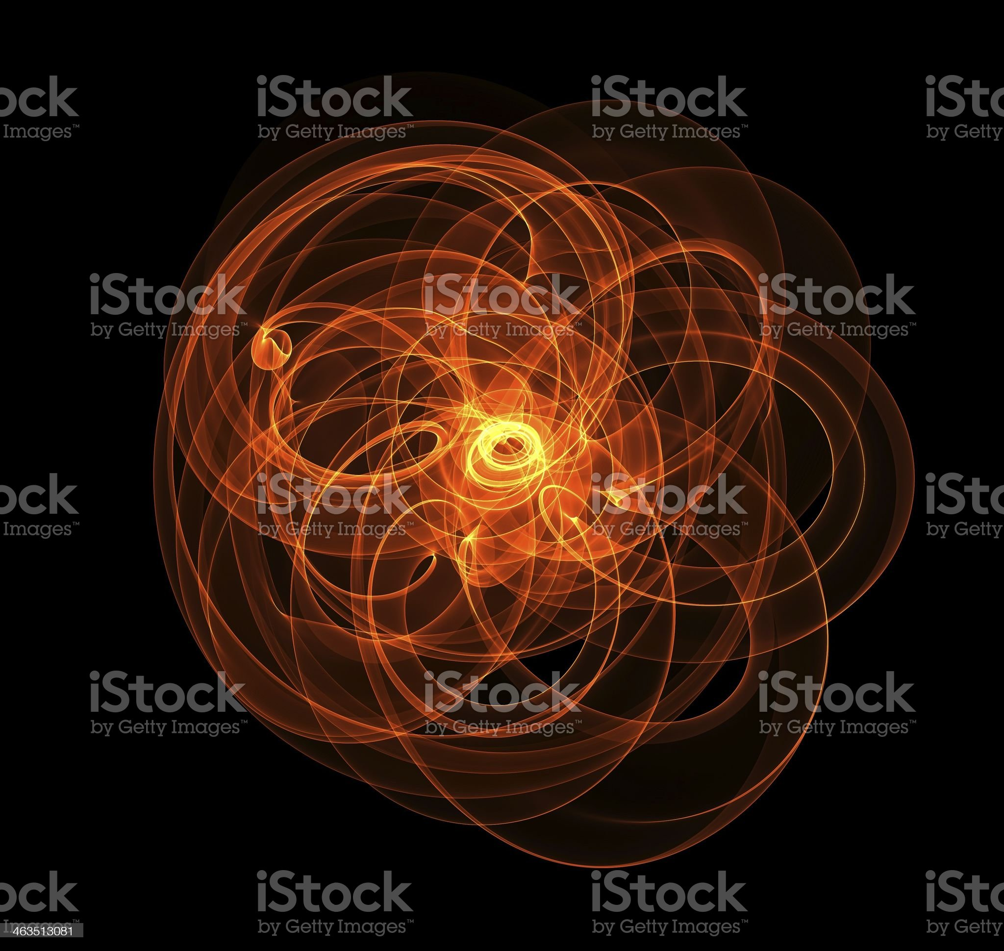 Abstract picture of orange fire on black background royalty-free stock photo
