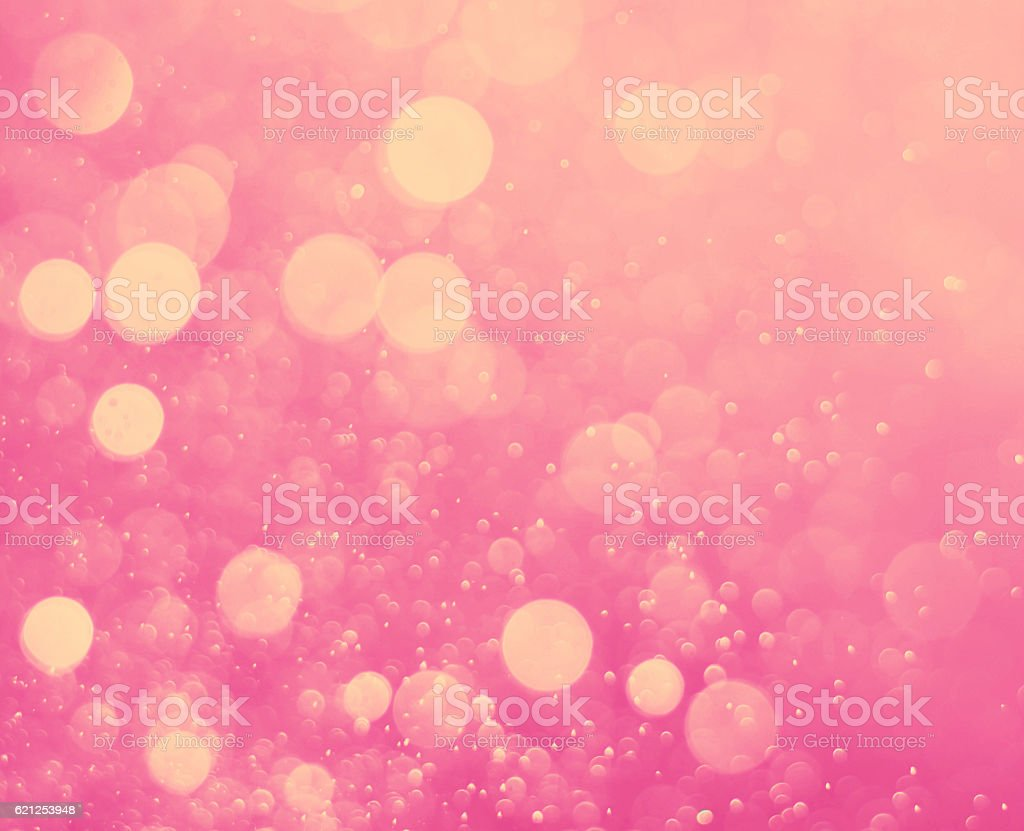 abstract pink light bokeh background stock photo