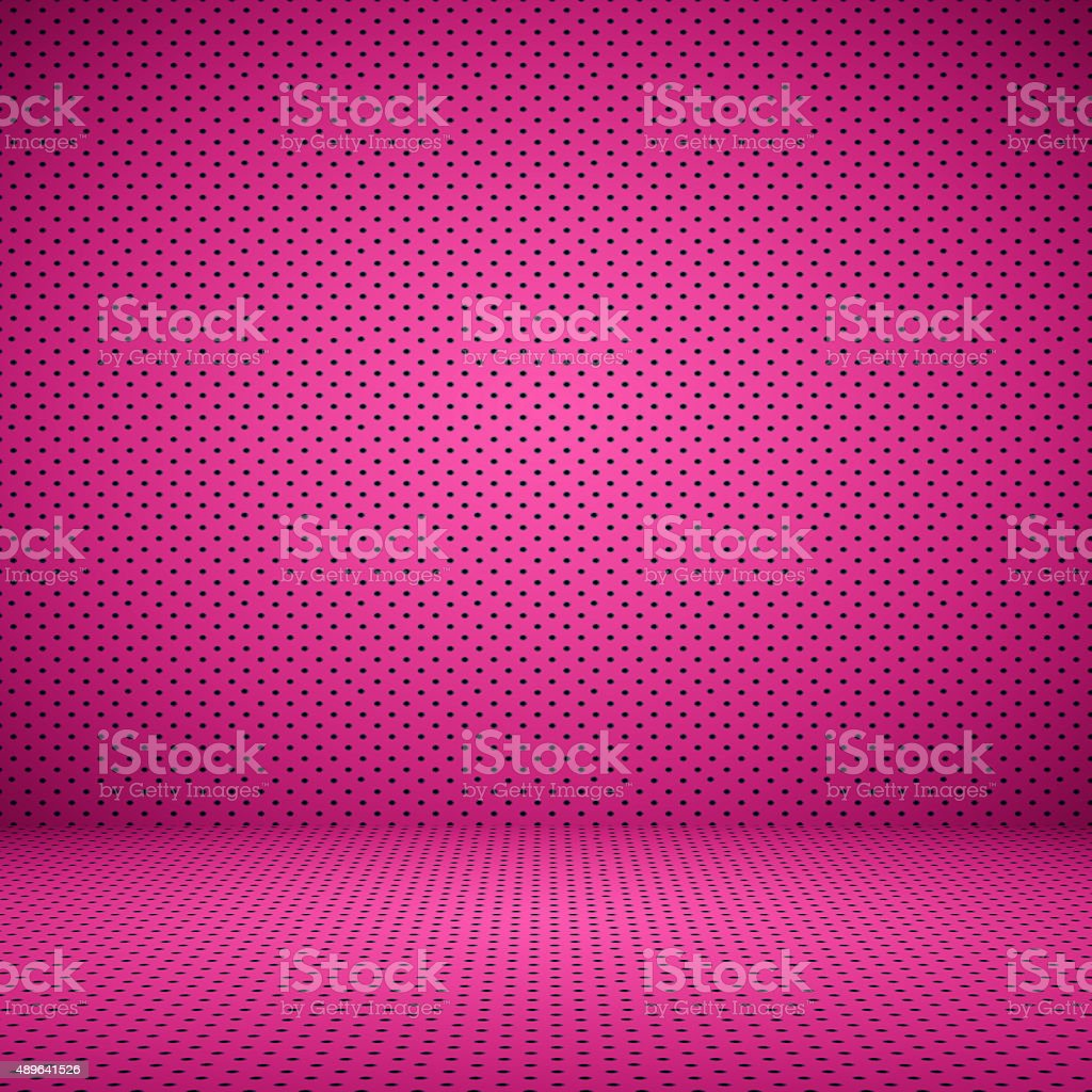 abstract Pink well using as background Valentine with Polka Dot stock photo