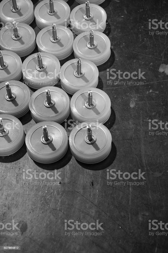 abstract plastic wheel stock photo