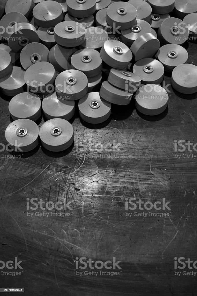 abstract plastic wheel stock photo