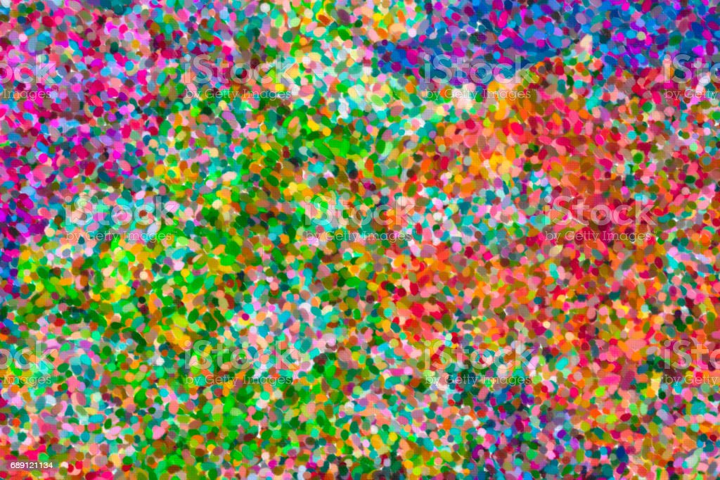 abstract pointillist oil painting stock photo
