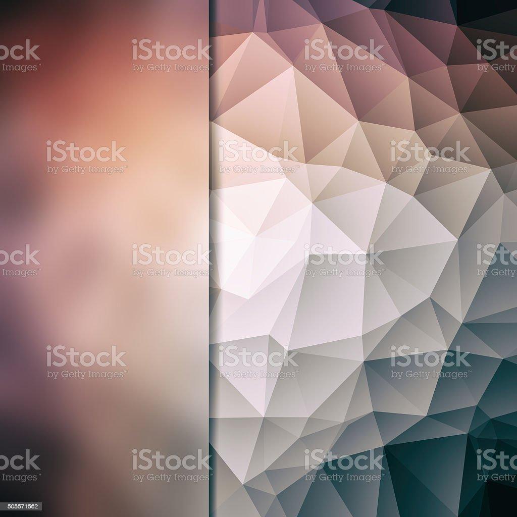 Abstract poligon background stock photo