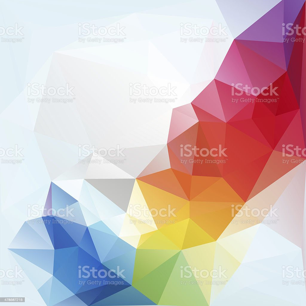 Abstract polygon triangle background stock photo