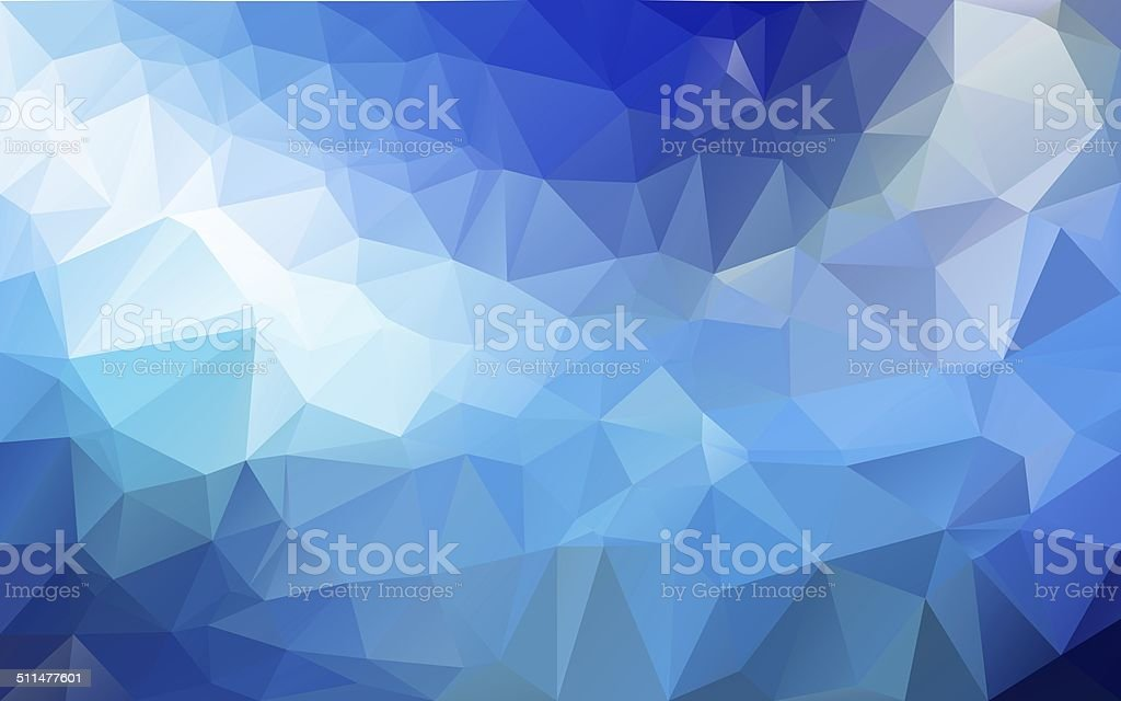 Abstract polygonal background,Blue color stock photo