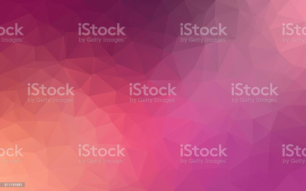 Abstract polygonal background,Pink color stock photo