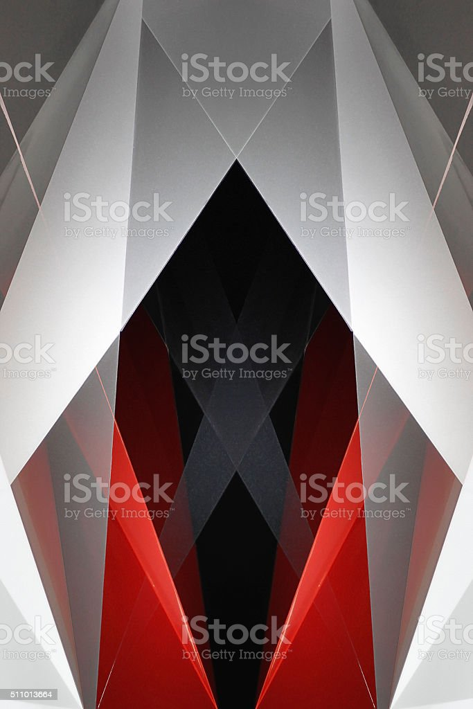 Abstract polygonal composition on subject of career, growth or progress stock photo