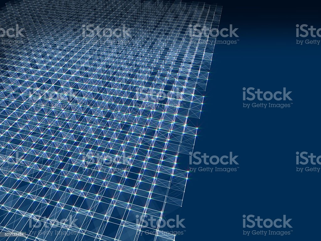 Abstract polygonal space low poly dark background stock photo